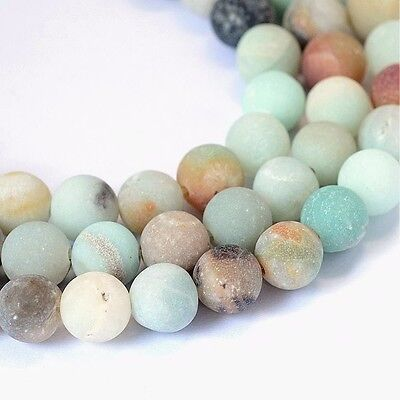 Amazonite Perlen 6mm Frosted * A GRADE * Kugel Strang Edelstein Natursteine G740
