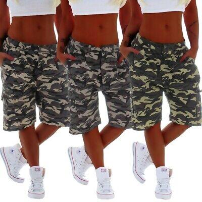 Armee Camouflage Shorts (Capri Bermudas Camouflage Cargohose Shorts Cargo Army Stoffhose Hose Armee B97)