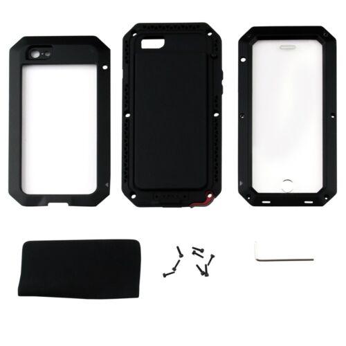 Shockproof Aluminum Glass Metal Case Cover for iPhone7 SE 5S 6S & 7 Plus/8 Plus