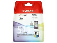 Genuine Canon CL-511 Colour Ink Cartridge. Brand New Sealed. Bargain Price.