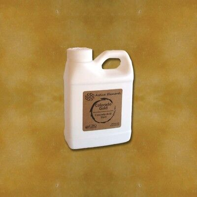 Official Acid Stain For Concrete - 16oz - Colorado Gold - Golden Yellow