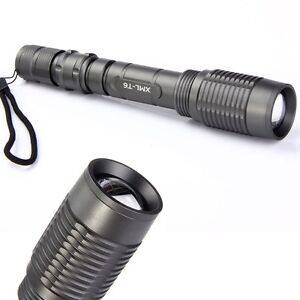 2000 Lumen CREE XM-L T6 LED Flashlight Torch Zoomable Lamp Light Aluminium alloy