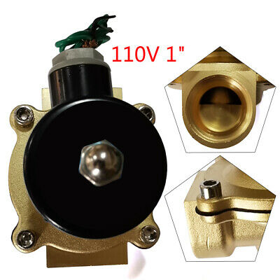 Electric Solenoid Valve Brass 1npt Inletoutlet 2-way For Water Air Gas Fuel