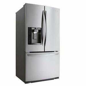 LARGE SELECTION OF LG STAINLESS STEEL FRIDGE-- COMES WITH FULL WARRANTY--CHECK THIS ONE OUT!!--OPEN FAMILY DAY 12-5PM!