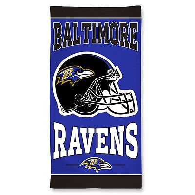 Baltimore Ravens Beach Towel [NEW] NFL Blanket Vacation Summer Pool CDG