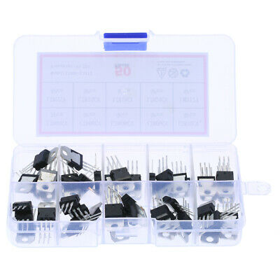 50pcsset 10 Types L78 Series Mosfet Transistors Assorted Kit With Box F2x0