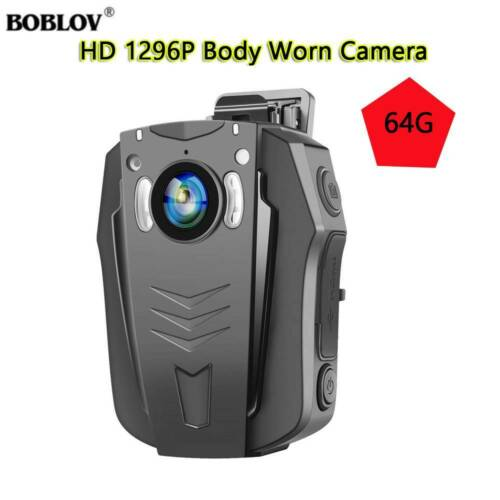 Boblov PD70 1296P 32/64GB WiFi Wearable Body Camera Audio Re