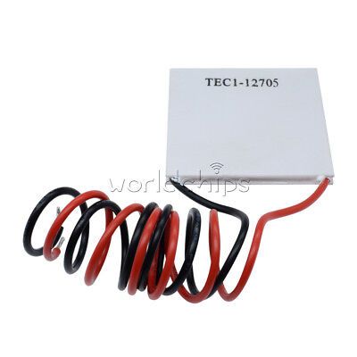 5pcs Tec1-12705 Heatsink Thermoelectric Cooler Cooling Peltier Plate Module Top