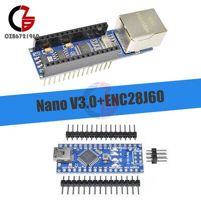 Nano V3.0 Usb Atmega328 5v 16m Micro-controller Enc28j60 Ethernet Shield Module