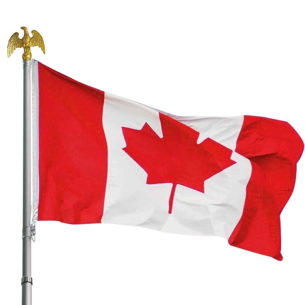 Canadian Flag 3 x 5 ft Polyester Canada Maple Leaf Banner Indoor Outdoor Grommet Décor