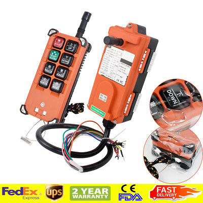 Radio Remote Control Transmitter - 【USA】Transmitter&Receiver Hoist Crane Radio Industry Wireless Remote Control 12V