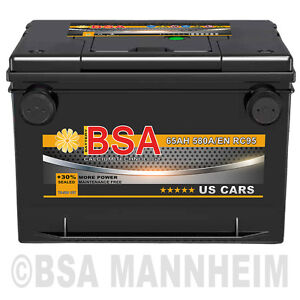 US Autobatterie 65Ah Starterbatterie USA Car Batterie Chrysler Chevrolet 60Ah
