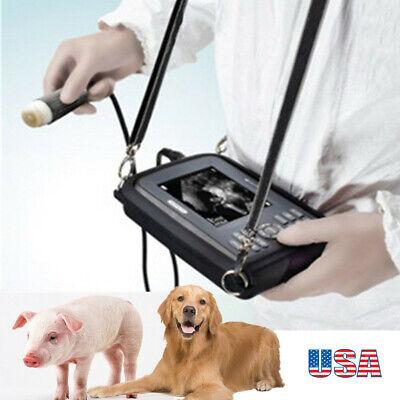 Vet Portable Ultrasound Scanner Machine Handheld Pregnancy Animal Veterinary Ac