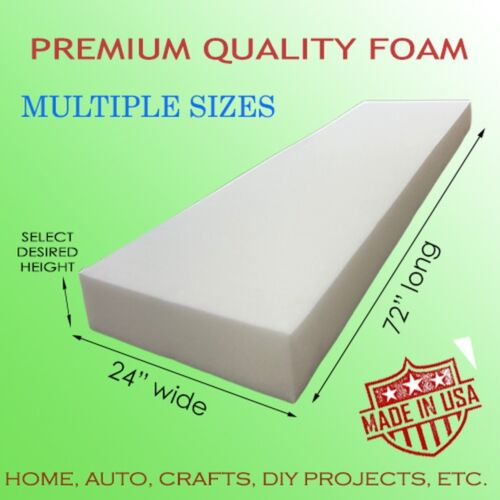 Medium Density Upholstery Seat Foam Cushion Replacement, Home, Auto, Crafts Etc