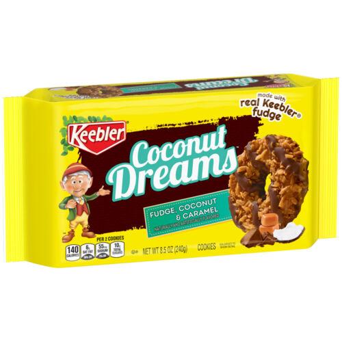 Keebler Fudge Stripes Coconut Dreams Caramel & Coconut Cookies 8.5 oz