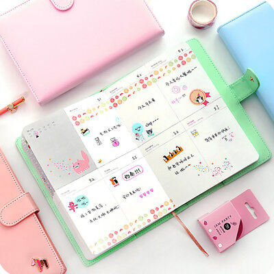 Weekly Planner Sweet Notebook Creative Student Schedule Diary Book Color Pages