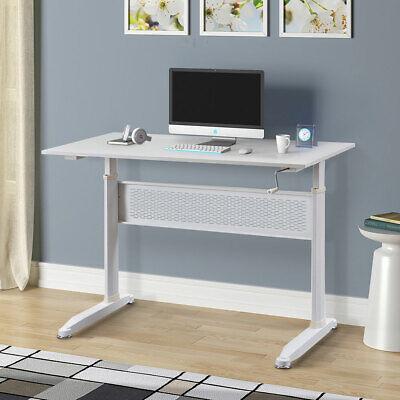 Height Adjustable Computer Desk Manual Lifting Table Wcrank Study Writing Desk