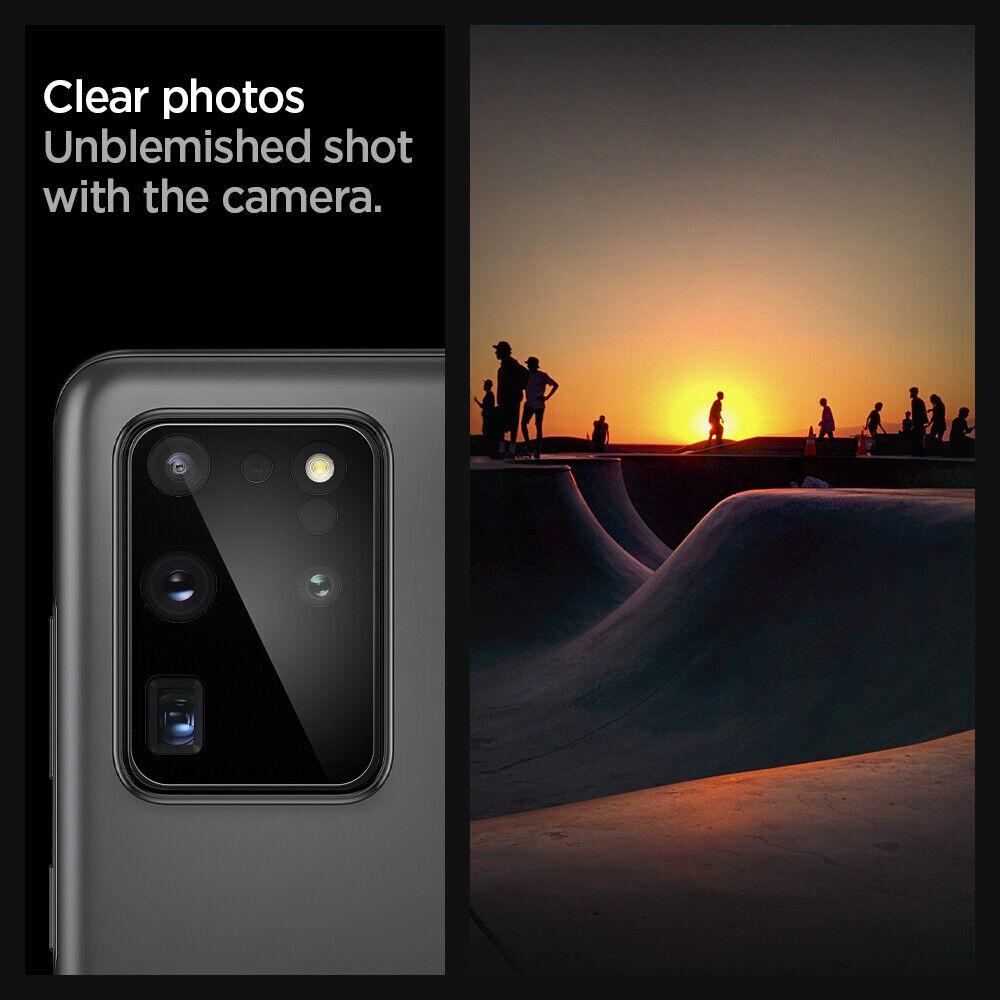 как выглядит Samsung Galaxy S20, S20 Plus, S20 Ultra Camera Lens Protector Spigen  2PACK фото