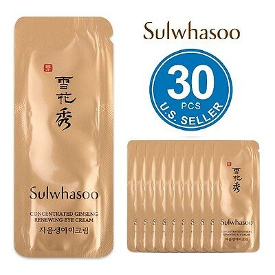 Sulwhasoo concentrated ginseng renewing eye cream 1mlx30pcs(30ml) USA FREE  SHIP 27f27b6f316e7