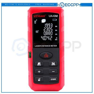 40m131ft Laser Distance Meter Rangefinder Trena Level Measure Tape Tool Ua40