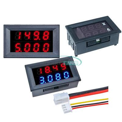 34 Bit Dc 0-200v 100v 10a Voltmeter Ammeter Redred Redblue Led Amp Wires