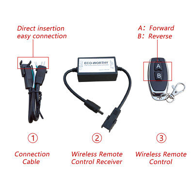 Wireless 8-30v Linear Actuator Remote Control Switch Electric Motor Dc 12v24v