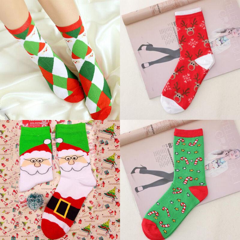Women And Men Christmas Sock Comfortable Stripe Cotton Sock Short Ankle Sock