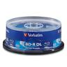 25 pack VERBATIM 6X Blu-Ray BD-R DL Dual Layer 50GB Branded Logo 98356