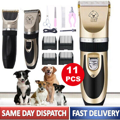 11 Pet Professional Dog Grooming Clippers Kit Set Dog Cat Hair Trimmer Groomer