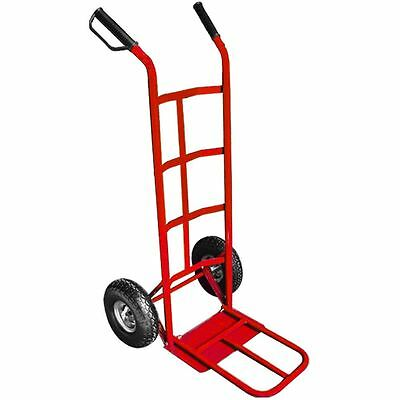 Hand Truck Large Red Industrial Heavy Duty Folding Sack Pneumatic Wheel Cart