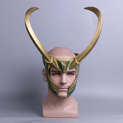 2017 Movie Thor 3 Ragnarok Loki Laufeyson PVC Cosplay Mask Helmet Halloween Prop - Halloween Movie 3 2017