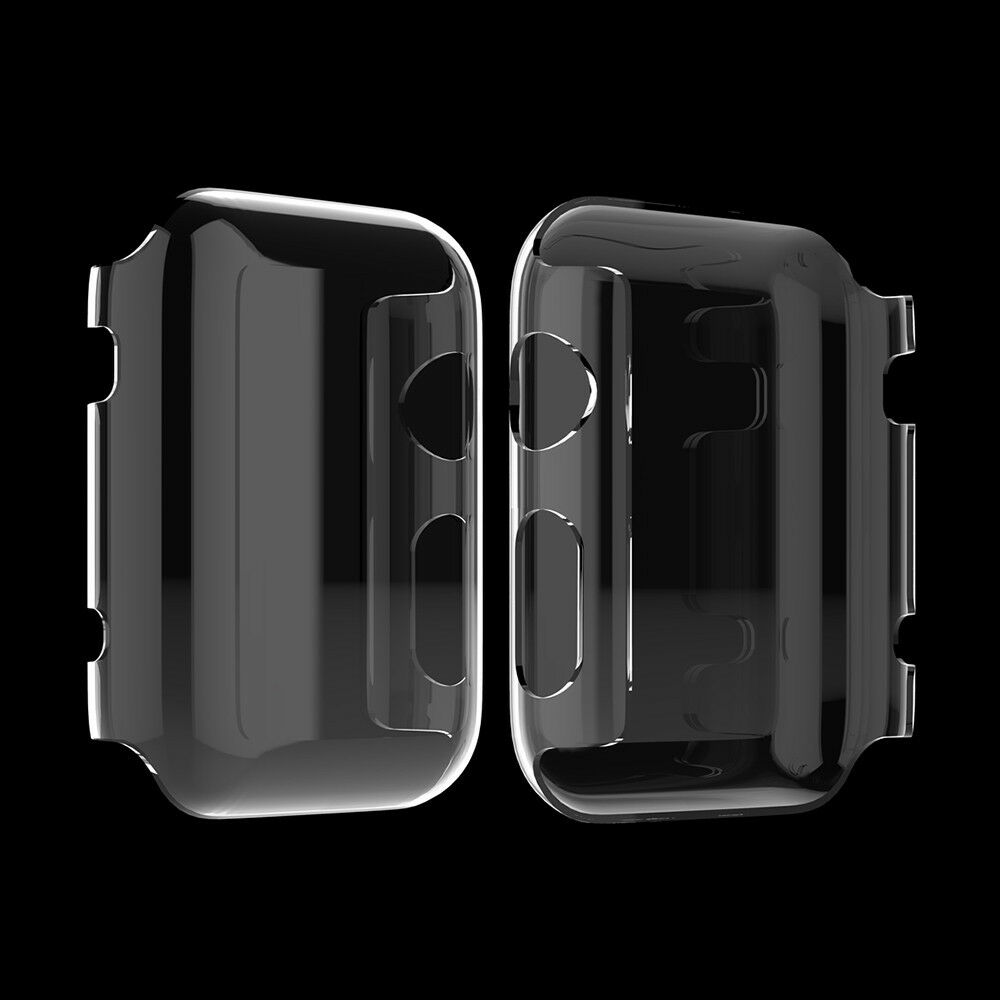 Apple iWatch Series 1,2,3 Screen Protector (42mm,38mm) Bumper Case Protection Cell Phone Accessories