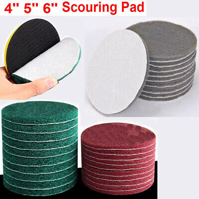 Tile Scouring Pad Hook Power 4 5 6 Loop Cleaning Discs Abrasive Tool 25pc