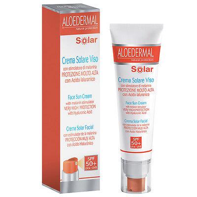 Aloedermal Crema Solare Viso SPF 50 protezione viso 50 ml