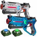 Light Battle Active Set - Wit/Blauw - 2 Pack + 2 Targets