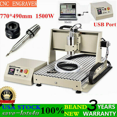 Cnc 6040 Router Engraver Usb 3 Axis Wood Engraving Drilling Machine Cutter 1500w