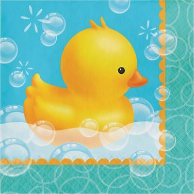 Bubble Bath Duck 16 Lunch Napkins Rubber Ducky Baby Shower
