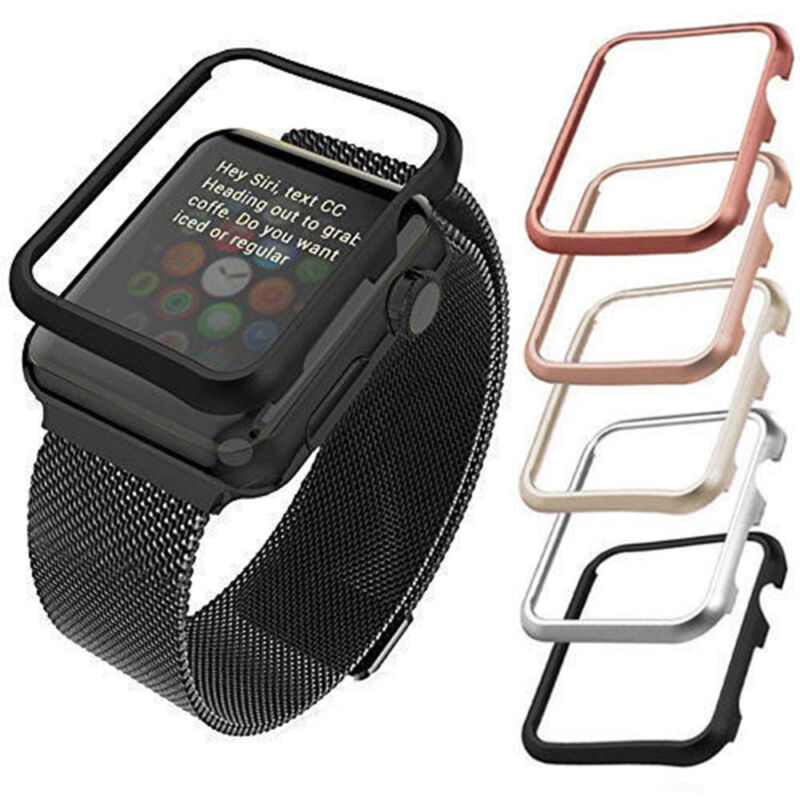 best loved 08bb1 4b835 Details about For Apple Watch iWatch Case Protector Cover Protective Skin  Bumper 38/42mm OU