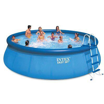 "Intex 18' x 48"" Inflatable Easy Set Exceeding Ground Pool + 1500 GPH Pump | 28175EH"