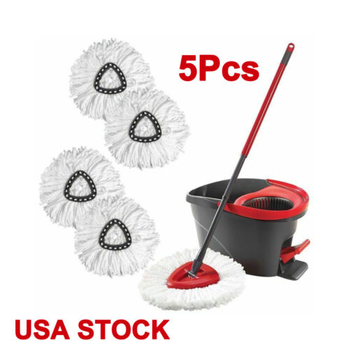US 5pcs Replacement Head Home Cleaning Mopping Triangle Mop Refill Cotton Head Cleaning Tools