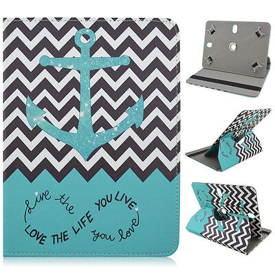 "For Kindle Fire HDX 7"" Tablet Green Chevron Anchor Love Case Cover"