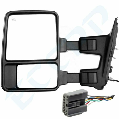 ECCPP Towing Mirrors Replacement fit for 2008-2016 Ford F250 F350 F450 F550 Super Duty Side View Mirror Pair Set Power Heated w//LED Smoke Turn Signal Pickup Mirrors