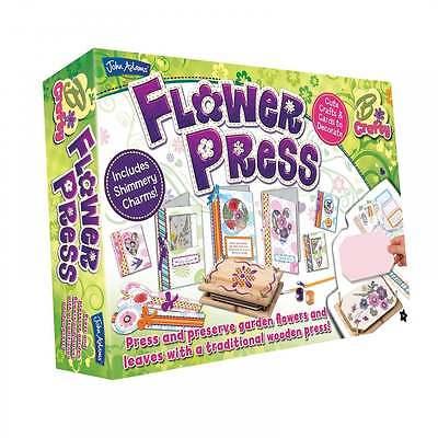 John Adams Flower Press Kit Kids Flower Pressing Craft Set