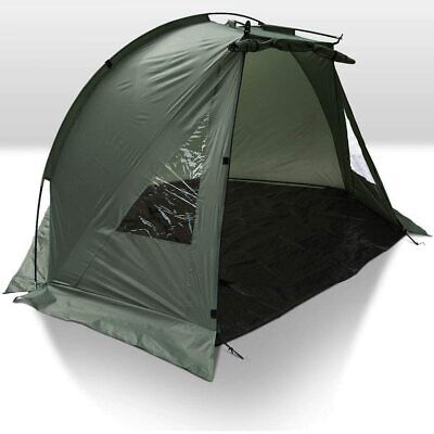 Carp Fishing Bivvy Day Tent Shelter 1 Man Fishing Bivvy Ground Sheet Pegs