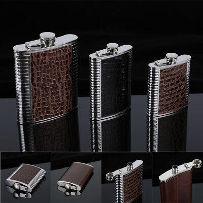 (5-10oz Stainless Steel Hip Liquor Whiskey Alcohol Flask Cap Pocket Wine Bottle)