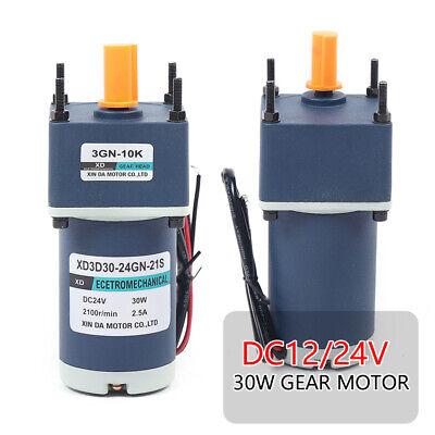 1224v 30w High Torsion Adjustable Speed Gear Permanent Magnet Dc Geared Motor