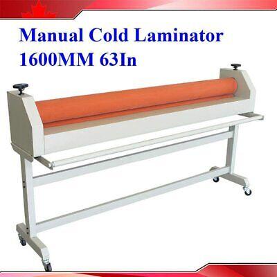 New 63 1600mm Large Manual Cold Roll Laminating Machine Laminator Wooden Box