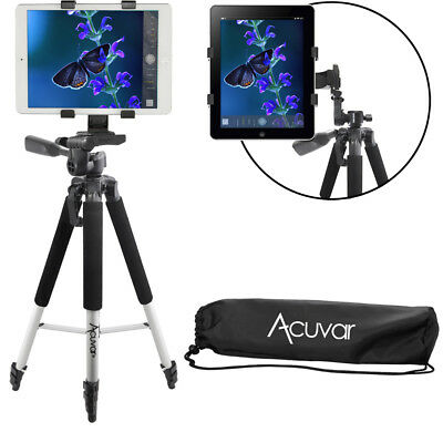 "Acuvar 57"" Tripod + Tablet Mount for Apple iPad, iPad Air, iPad Mini,Other"