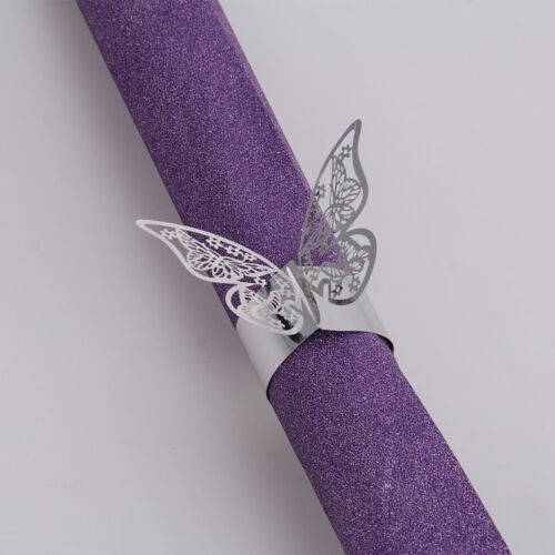 50PCS Butterfly Napkin Ring Paper Holder Table ...