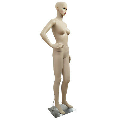 Full Body Female Mannequin Wbase Plastic Realistic Display Head Turns Dress New